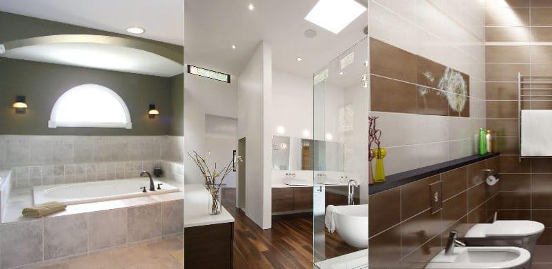 Освещение ванной комнаты в квартире