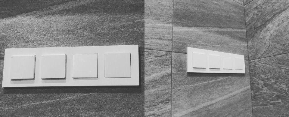 Как установить выключатель и розетку